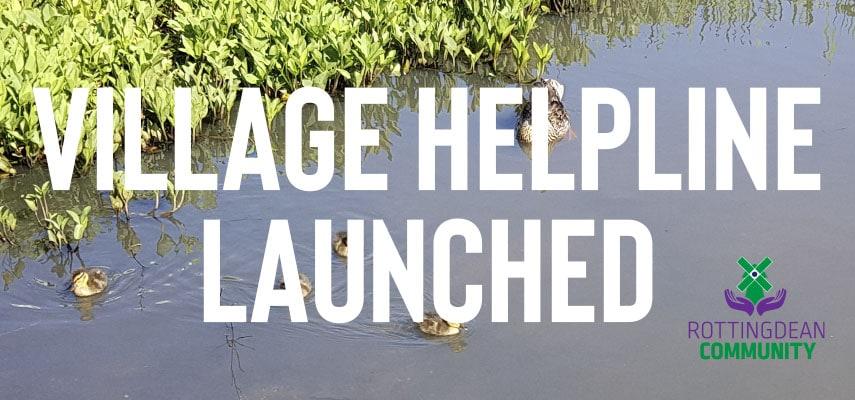 Rottingdean Village Helpline Launched